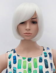 Donna Parrucche sintetiche Senza tappo Lisci Bianco Parrucca riccia stile afro Per donne di colore parrucca nera costumi parrucche