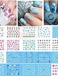 4pcs Nail Polish Manicure Watermark Stickers / Phototherapy Nail Polish Applique Snow Angel Deer