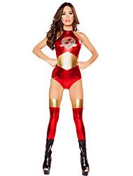 Film & TV Kostumer Cosplay Kostumer Festkostume Kvindelig Halloween Festival / Højtider Halloween Kostumer Rød Patchwork