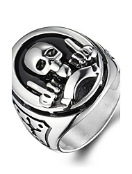 cheap -Men's Skull Statement Ring - Personalized / Vintage / Fashion Silver Ring For Christmas Gifts / Halloween / Daily