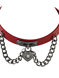 cheap -Women's Choker Necklace / Collar Necklace - Leather Personalized, Gothic, Fashion Coffee, Rose, Red Necklace Jewelry For Party, Daily, Casual