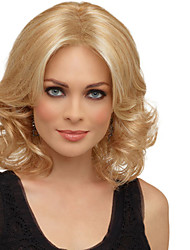 Women Synthetic Wig Mid length Curly Blonde Highlighted/Balayage Hair Natural Wigs Costume Wig