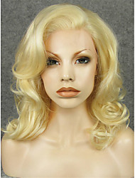 IMSTYLE 16Beautiful Medium Wave 613Blonde Synthetic Lace Front Wigs Natural Looking