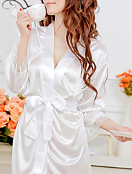 cheap -Shuxuer ® Women Lace/Polyester Robes/Ultra Sexy Nightwear(with Belt And T-back)