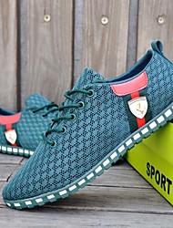 Da uomo Sneakers Comoda Primavera Estate Autunno Inverno Cotone Casual A quadri Piatto Blu scuro Blu Grigio scuro Grigio chiaro Verde