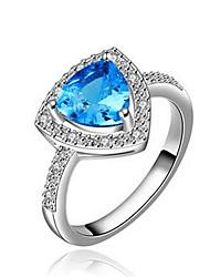 ieftine -Verighete imitație de safir La modă bijuterii de lux Zirconiu Zirconiu Cubic Argilă Diamante Artificiale Geometric Shape Albastru Deschis