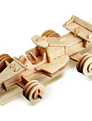 Jigsaw Puzzles Wooden Puzzles Building Blocks DIY Toys Formula Car 1 Wood Ivory Puzzle Toy