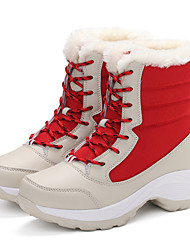 cheap -Women's Snow Boots Leatherette Outdoor Flat Heel Lace-up More Color Walking EU36-39