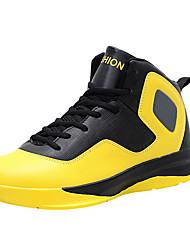 Недорогие -Желтый Красный Белый-Мужской-Для занятий спортом-Полиуретан-На плоской подошве-Удобная обувь-Спортивная обувь