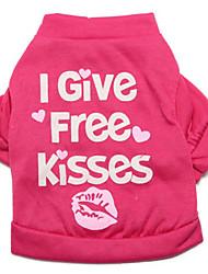 preiswerte -Katze Hund T-shirt Hundekleidung Lässig/Alltäglich Buchstabe & Nummer Purpur Rose Kostüm Für Haustiere