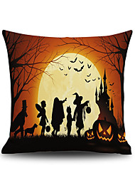 cheap -Halloween Night Square Linen  Decorative Throw Pillow Case Cushion Cover