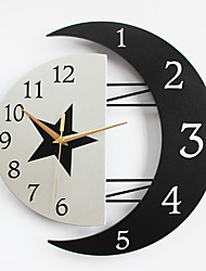 cheap -Modern/Contemporary Wood Metal Others Indoor,AA Wall Clock