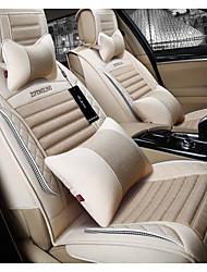 Недорогие -новый лен автомобиля подушки четыре сезона универсальные дышащие подушки сиденья здоровья универсальные сезоны