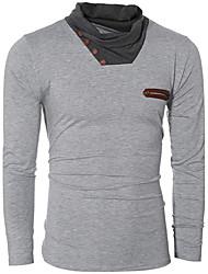 Tee-shirt Homme,Couleur Pleine Sports Travail Soirée Sortie Décontracté / Quotidien simple Chic de Rue Actif Automne Hiver Manches Longues