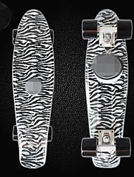 22 Zoll Standard-Skateboards Schwarz & Weiß