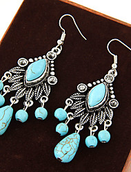 cheap -Women's Turquoise Drop Earrings - Turquoise Leaf Vintage, European, Statement Blue For Party / Daily / Casual