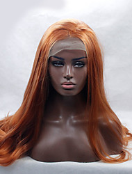Brown Synthetic Lace Front Wigs Long Wavy Heat Resistant Hair Natural Stylish Brown Front Lace Wig For African American