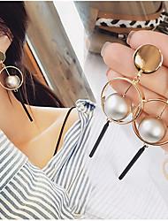 cheap -Women's Drop Earrings / Hoop Earrings / Dangle Earrings - Gold Plated Gold / Silver For Wedding / Party / Daily / Casual