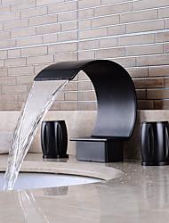 abordables -Moderne Antique Décoration artistique/Rétro Diffusion large Douche Séparé Soupape céramique Deux poignées Deux trous Cuivre antique ,