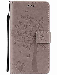 cheap -for Motorola Moto G4 Play G4 Tree and Cat Embossed PU Phone Case for Motorola G4 Play G4 G2 Z Z Force X Play X Style