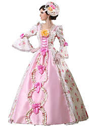 Rococo Victorian Women's One-Piece/Dress Cosplay Lace Cotton Floor Length