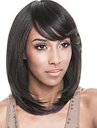 Ženy Černá Rovné Umělé vlasy Bez krytky Přírodní paruka paruky
