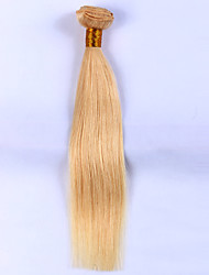 cheap -Indian Hair Straight Precolored Hair Weaves 1 Bundle Human Hair Weaves Light Blonde Human Hair Extensions