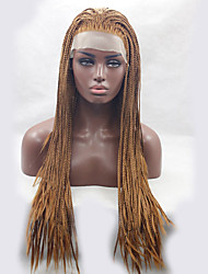 cheap -brown color braiding wig synthetic lace front wigs for afro women