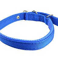 Cachorro Colarinho Retratável Sólido Náilon Preto Vermelho Azul