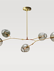 cheap -Northern Europe Vintage Chandelier 5 heads Glass Molecules Pendant Lights Bedroom Light Fixture