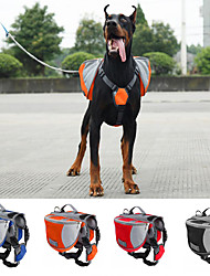 abordables -Chien Sac de transport Dog Paquet Animaux de Compagnie Transporteur Etanche Portable Orange Rouge Bleu Noir
