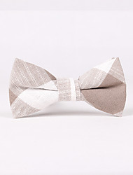 cheap -Men's Party Work Basic Cotton Bow Tie - Check
