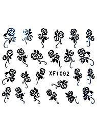 Flower Pattern Watermark Nail Sticker