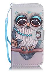 Недорогие -Кейс для Назначение Apple iPhone X iPhone 8 Кейс для iPhone 5 iPhone 6 iPhone 7 Бумажник для карт Кошелек со стендом Флип С узором