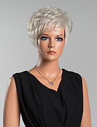 moda onda corta naturale senza cappuccio parrucche capelli umani di alta qualità