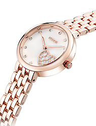 cheap -Women's Fashion Quartz Casual Watch Simple Heart Stainless Steel Belt Round Alloy Dial Watch Cool Watch Unique Watch
