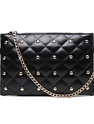cheap -Women Bags PU Wristlet Rivet for Wedding Event/Party Casual Sports Formal Outdoor Office & Career All Seasons Black