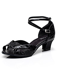 Women's Dance Shoes Leatherette Leatherette Latin Sandals Chunky HeelPractice / Beginner / Professional / Indoor / Customizable