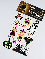 Недорогие -3 шт Хэллоуин украшения серебристые стикеры татуировки