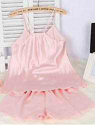 preiswerte -Damen Besonders sexy Nachtwäsche,Sexy einfarbig-Dünn Viskose Rosa Lila