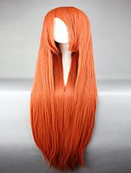 Donna Parrucche sintetiche Senza tappo Lisci Arancione Parrucca Cosplay Parrucca di Halloween Parrucca di carnevale Parrucca per