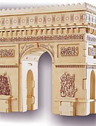 cheap -Wooden Puzzle Famous buildings Arc de Triomphe Professional Level Wooden 1pcs Kid's Boys' Gift