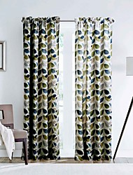 cheap -One Panel Curtain Designer , Leaf Living Room Polyester Material Curtains Drapes Home Decoration For Window