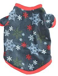 Gatto Cane T-shirt Abbigliamento per cani Romantico Casual Fiocco di neve Blu scuro Giallo Costume Per animali domestici
