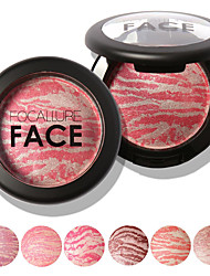 cheap -FOCALLURE 6 Colors Makeup Baked Blush Cosmetic Beauty Care Makeup for Face