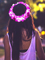 cheap -Pink LED Flower Crown/Floral HeadbandLight up Flower Halo/Headband Halloween Coustume Christmas Gift