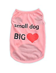 cheap -Cool Polyester Small Dog Big Heart Blue Pink Purple Green Vest Shirt Summer Dog Clothes for Pets