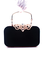 cheap -Women's Bags Velvet Evening Bag Crystal/ Rhinestone for Wedding Event/Party Formal All Seasons Black Purple Red Wine Royal Blue