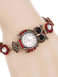 cheap -Women Watches Fashion Crystal Owl Bracelet Watch Quartz Digital Watch Relogio Feminino Strap Watch