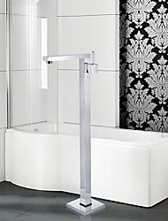 Contemporary / Modern Tub And Shower Widespread / Floor Standing with  Ceramic ValveSingle Handle